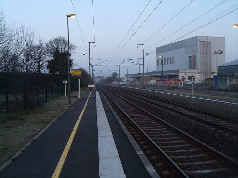 Vue des voies en direction de Saint-Brieuc