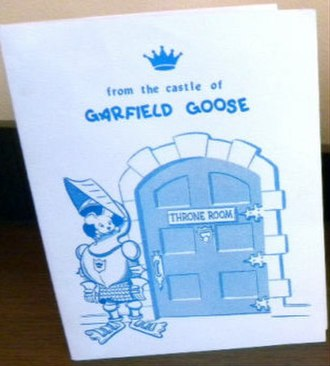 Garfield Goose and Friends - Roy Brown created items like this greeting card for young viewers.