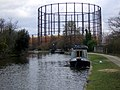 Gas holder beside the canal - geograph.org.uk - 1776923.jpg