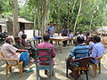 Gathering in a meeting of villagers in an Bangladeshi village 2015 07.jpg