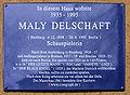 Gedenktafel Kaiserdamm 89 (West) Maly Delschaft.jpg