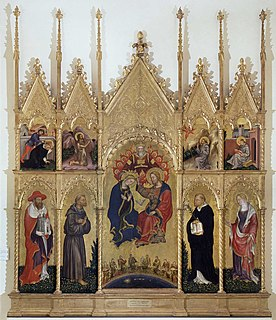 <i>Valle Romita Polyptych</i> painting by Gentile da Fabriano