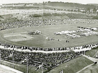 1842 in Denmark - The inauguration of Gentofte Stadium on 27 September 1942