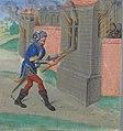 Geoffroy incendiant Maillezais (BNF ms fr 24383, fol 24v Roman de Melusine-Coudrette) (cropped).jpg
