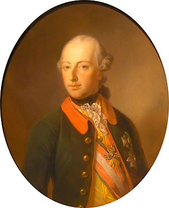 War of the Bavarian Succession - Archduke Joseph (portrait by Georg Decker): he sought to strengthen his family's influence in the German-speaking lands
