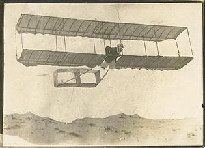 George Augustine Taylor - Taylor in his self-constructed glider at Narrabeen in 1909