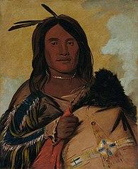 Ka-pés-ka-da, Shell Man, an Oglala Brave