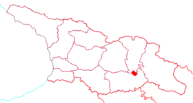 Location of Tbilisi in Georgia