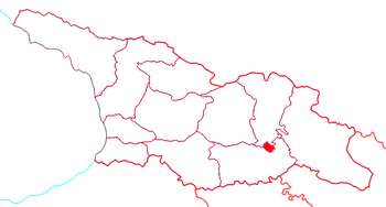 Location of Tbilisi within Georgia