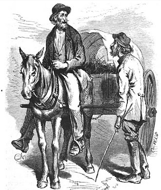 """Cracker (pejorative) - """"A pair of Georgia crackers"""" as depicted by illustrator James Wells Champney in the memoir The Great South by Edward King, 1873"""