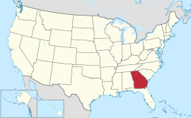 Map of the United States with Georgia highlighted