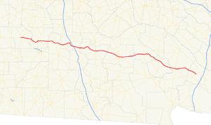 Georgia State Route 32 - Image: Georgia state route 32 map