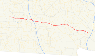 Georgia State Route 32 - Image: Georgia state route 32 map