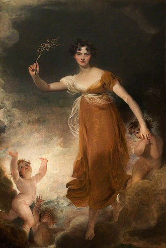 "John Leicester, 1st Baron de Tabley - Georgiana, Lady Leicester, (later Lady De Tabley), portrait as ""Hope""/The Branch by Sir Thomas Lawrence."