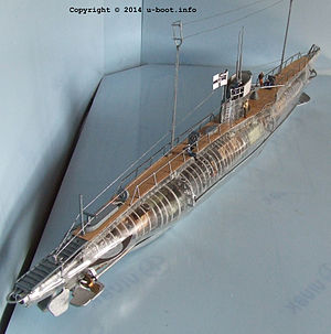 German Type UB III submarine - Image: German Type UB III submarine model 3
