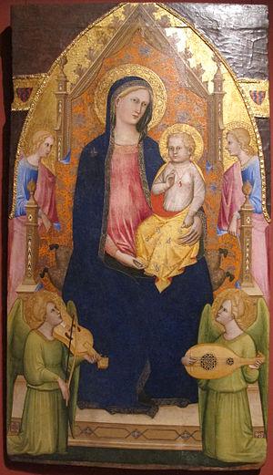 Giovanni di Bartolomeo Cristiani - Maestà, Pushkin Museum, Moscow