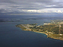 Aerial view of Guantanamo Bay, collected from ...