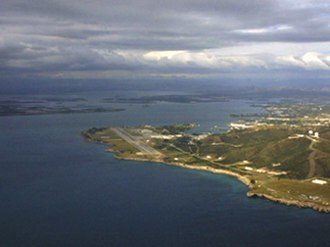 Guantanamo Bay Naval Base - Aerial view of McCalla Field, Guantanamo Bay (looking north-east)