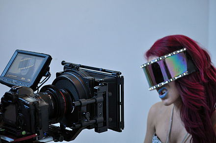 "Giulietta filming the music video for ""Pixelated""."
