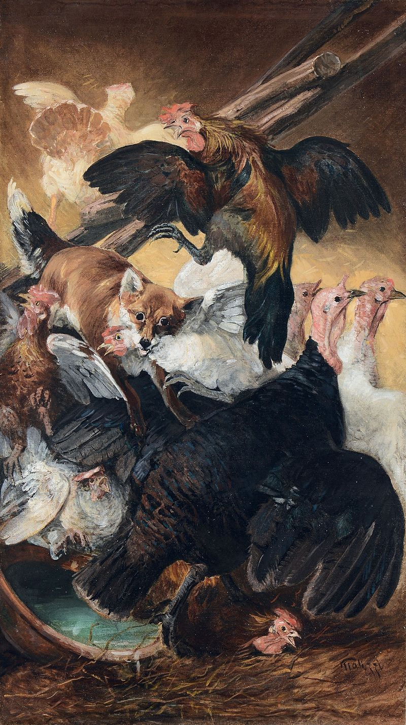 Giuseppe Palizzi Volpe nel pollaio.jpg