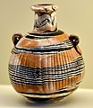Glass vessel from Babylon, Iraq. 8th-7th century BCE. Pergamon Museum.jpg