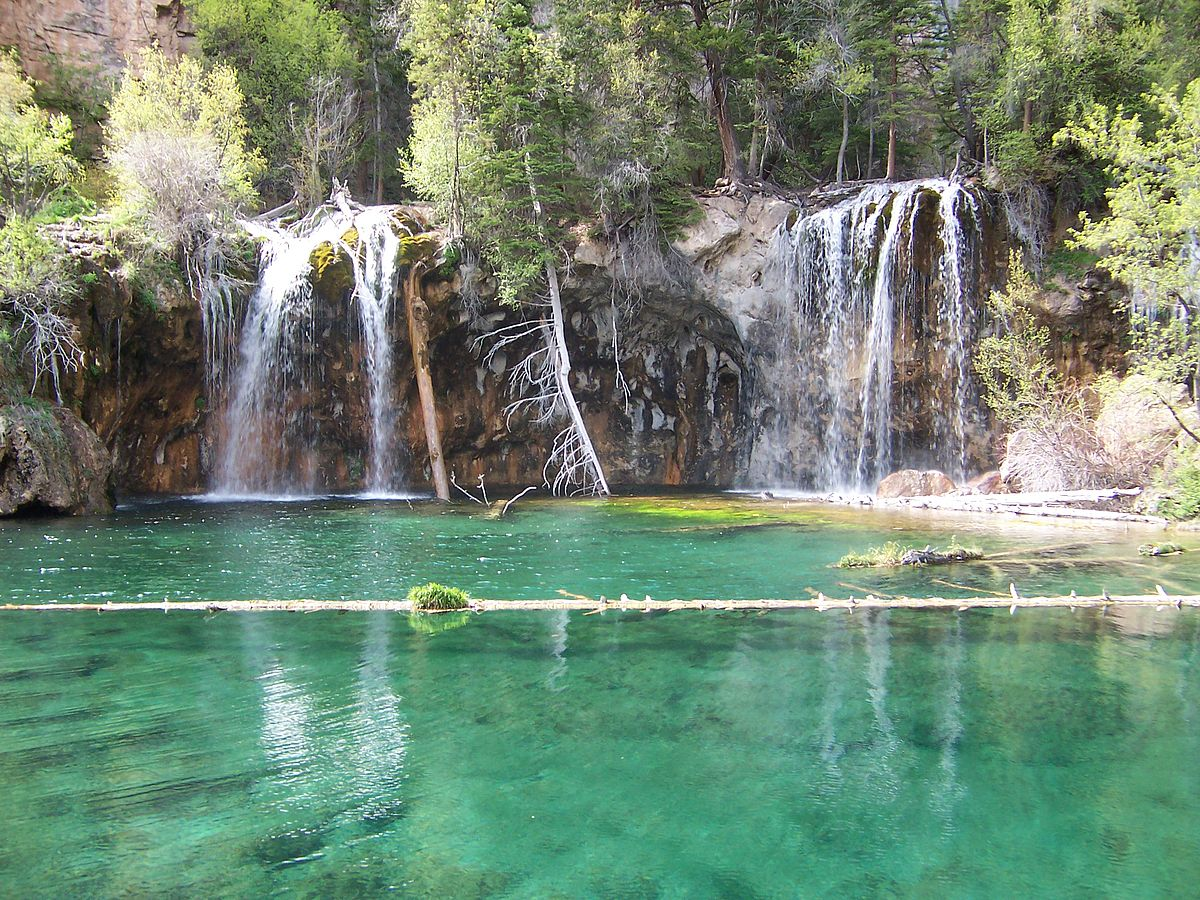 Hanging lake wikipedia for Fishing lakes in colorado springs