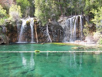 Glenwood Canyon - Hanging Lake is located in Glenwood Canyon.