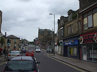 A624 road - The very top of the trunk road in Glossop