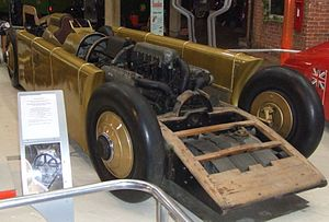 Henry Segrave - Segrave's Golden Arrow at the National Motor Museum, Beaulieu.