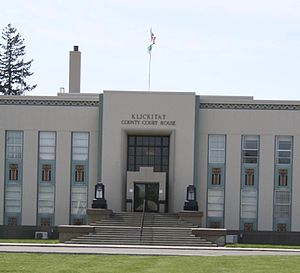 Klickitat County, Washington - Image: Goldendale WA county courthouse