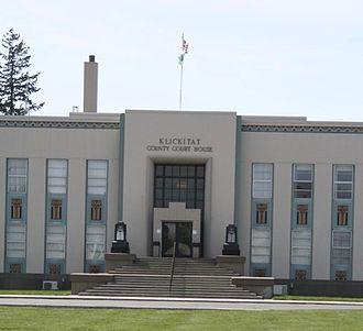 Klickitat County, Washington - Image: Goldendale WA county courthouse