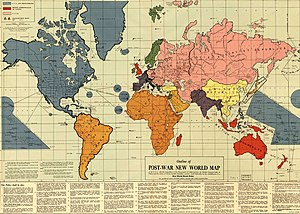 Outline of the Post-War New World Map - Outline of the Post-War New World Map. Published 1942, Philadelphia, PA