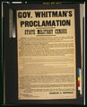 Gov. Whitman's proclamation-State military census LCCN2001700125.tif