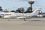 Government of Queensland (VH-SGY) Raytheon Hawker 850XP at Wagga Wagga Airport (3).jpg
