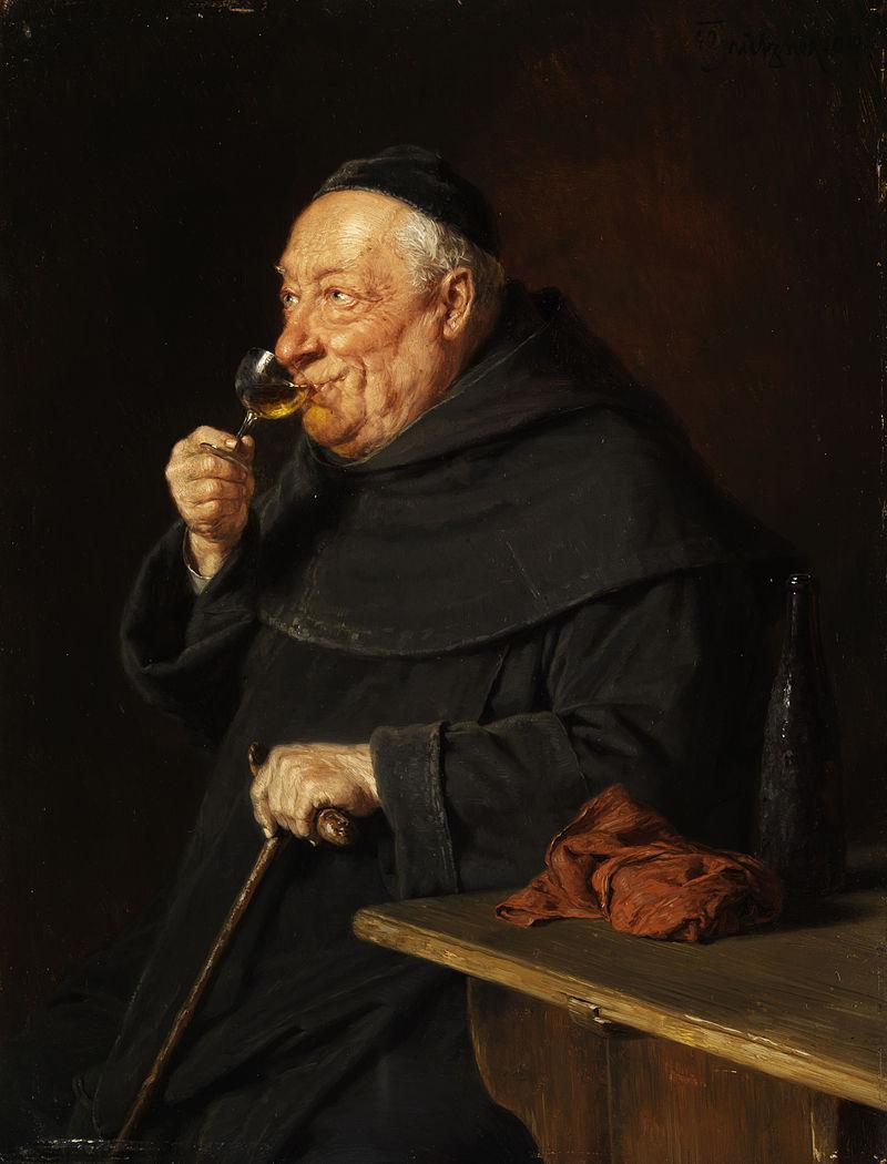 Grützner Benediktinermönch mit Wein beim Frühschoppen.jpg