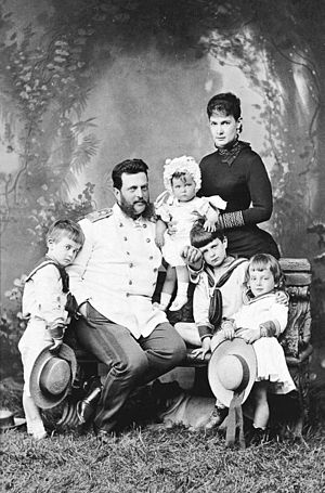 Grand Duke Vladimir Alexandrovich of Russia - Image: Gran Duke Valdimir with his wife and children