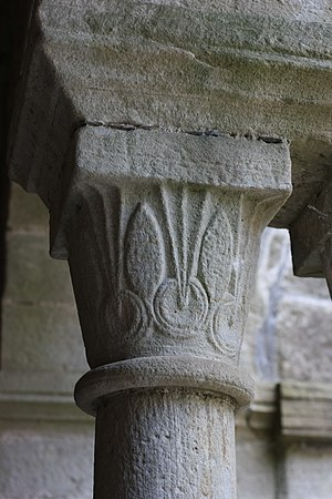 Saint-Michel de Grandmont Priory - A capital in the monastery.
