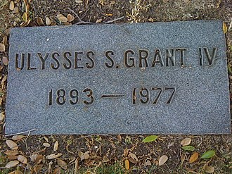 Ulysses S. Grant IV - Image: Grant IV Grave site
