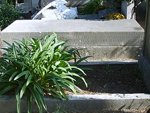 Alfred Gatley - Grave of Alfred Gatley at cimitero acattolico in Rome