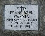 Grave of Franciszek Wanic at Central Cemetery in Sanok 2.jpg