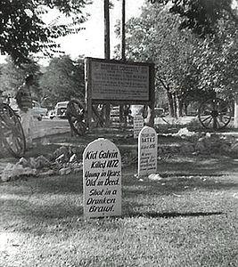 Graves at Boot Hill, Dodge City, KS, 1959(1)