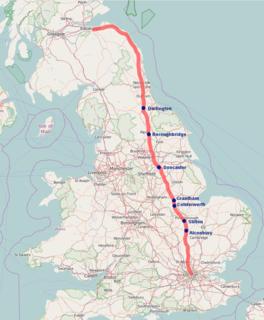 Great North Road (Great Britain) Historic road between London and Edinburgh