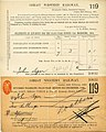 Great Western Railway dividend share certificate - December 1899 (cropped).jpg