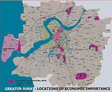surat city road map Surat Wikipedia surat city road map