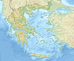 Location map Greece is located in Greece