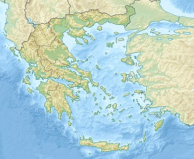 Greece relief location map