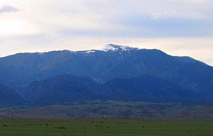 Greenhorn Mountain - Greenhorn Mountain seen from Walsenburg, Colorado