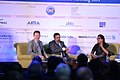 Gregory Barker, Anand Sharma and session host Naina Kidwai at the 2013 Horasis Global India Business Meeting.jpg