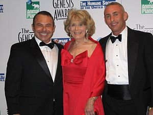 Genesis Awards - Gretchen Wyler, founder of the Genesis awards, with The HSUS supporters at the 20th Annual Genesis Awards at the Beverly Hilton in March 2006