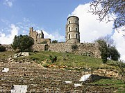 The ruins of the Grimaldi castle at Grimaud, near Saint-Tropez.
